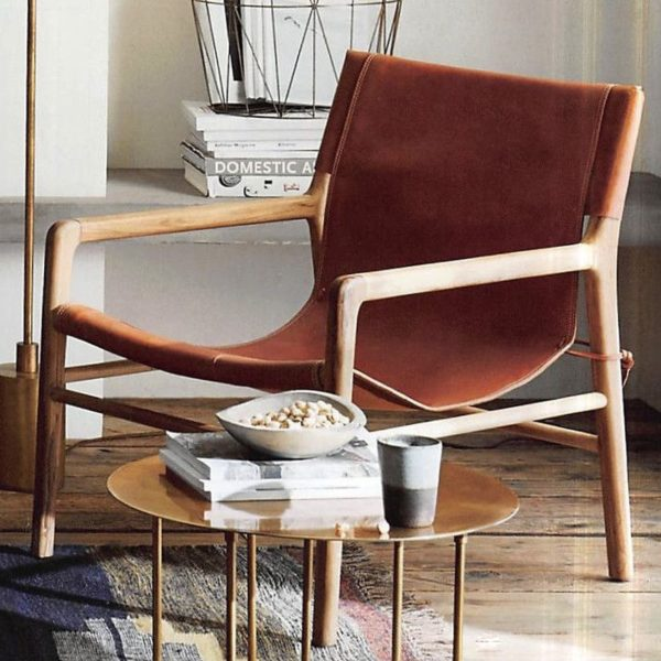 Belmont Leather Chair Cognac Eclectic Goods