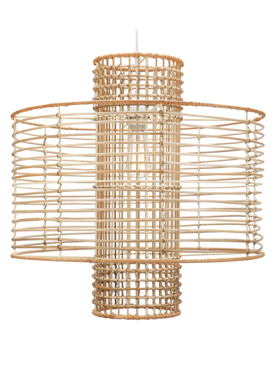 Rattan boho pendant light