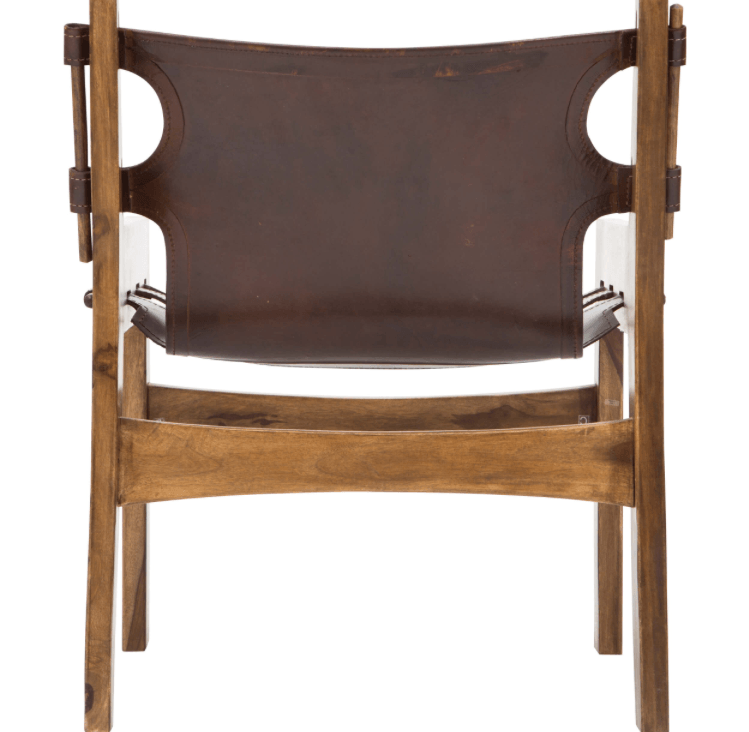 leather sling chair