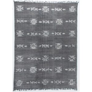 distressed tribal rug faded black