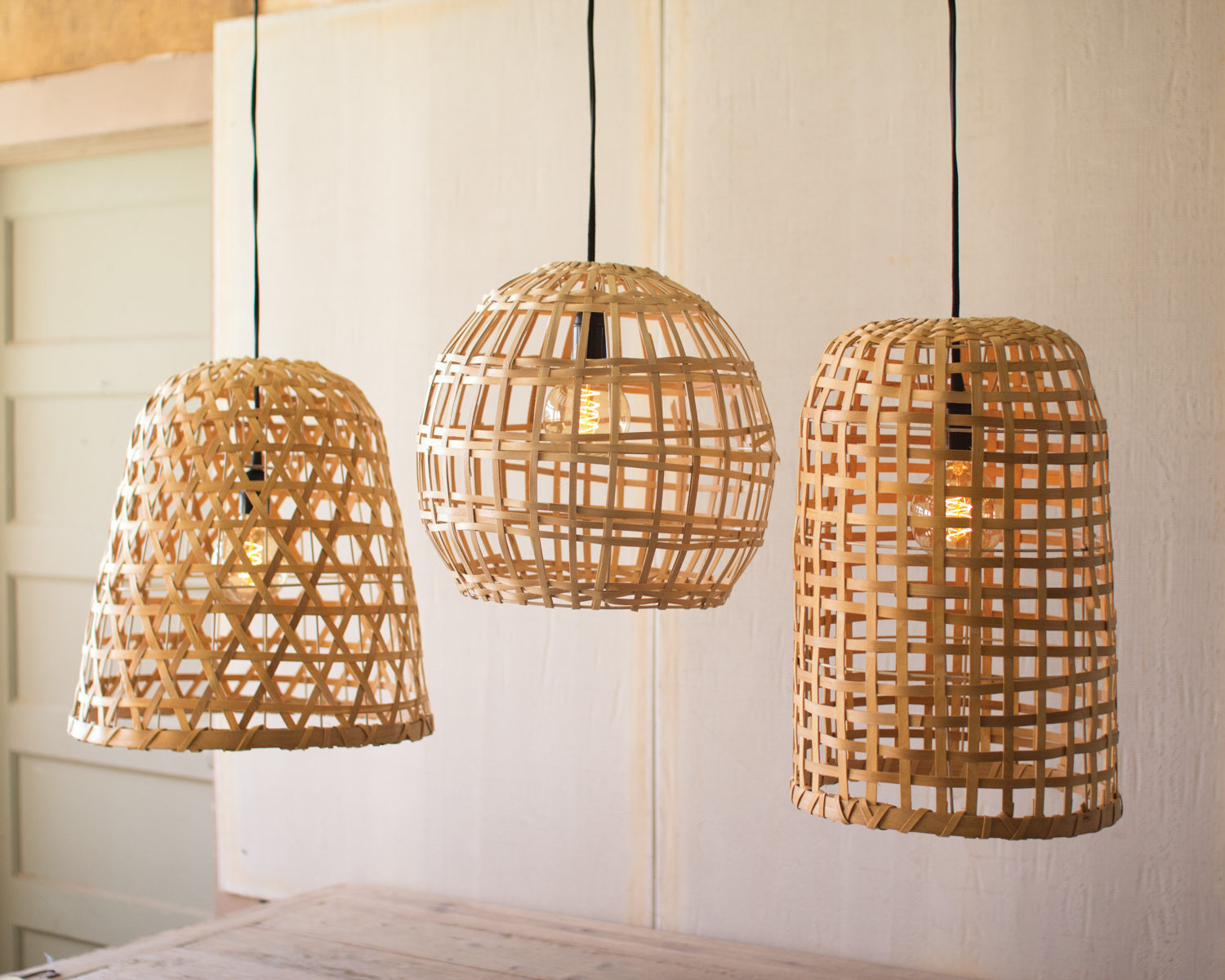 Basket Pendant Light on small retro house plans