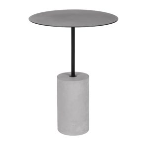 martini side table concrete lacquer boho glam mid century modern