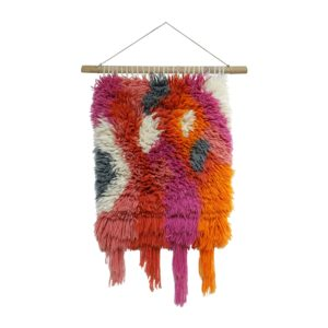 boho bright wall hanging