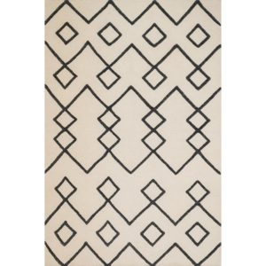 boho flat weave tribal rug black and white