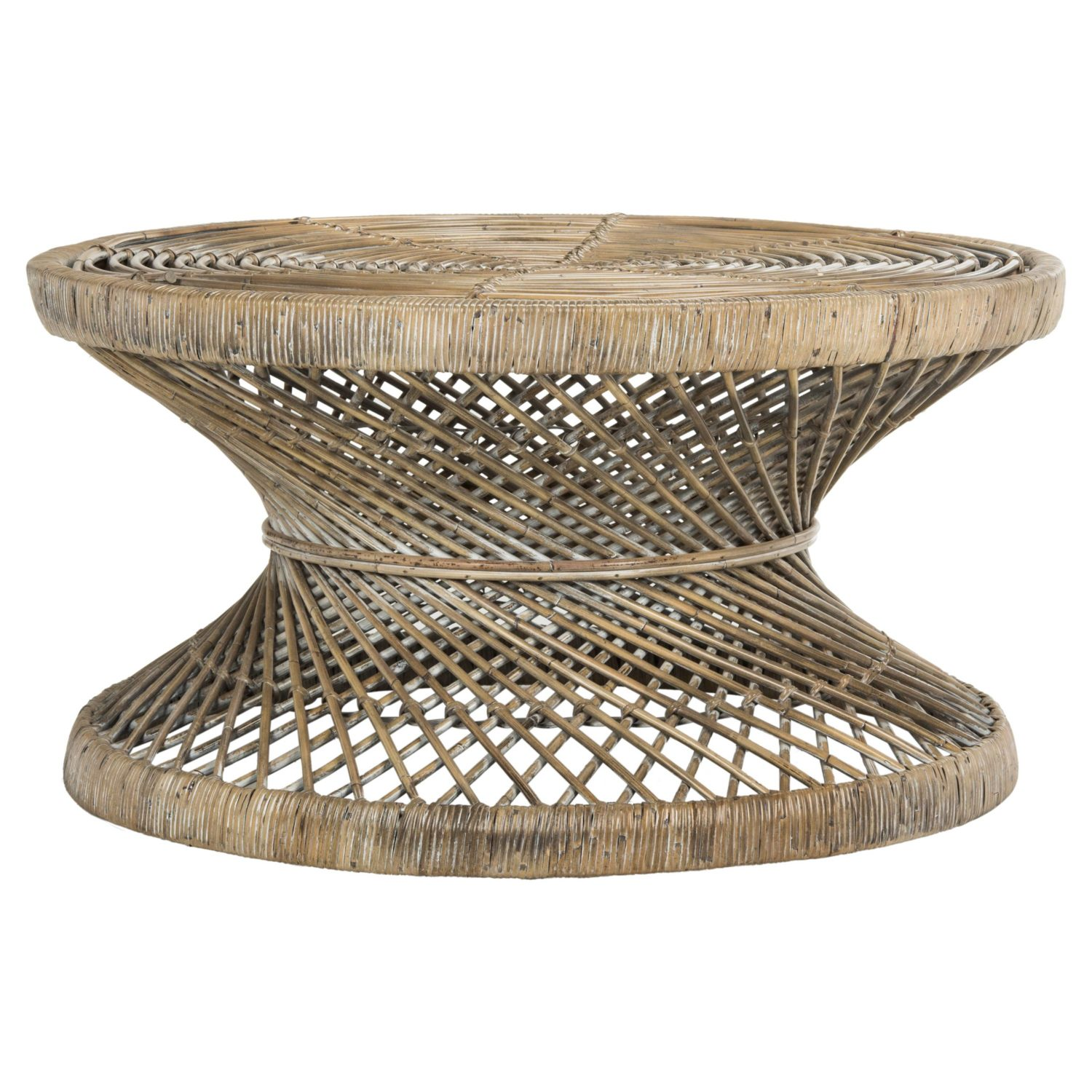 Rattan round coffee table eclectic goods Rattan round coffee table