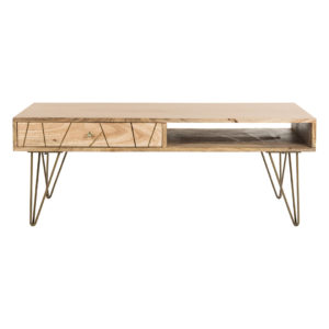 Brass Inlay Coffee Table