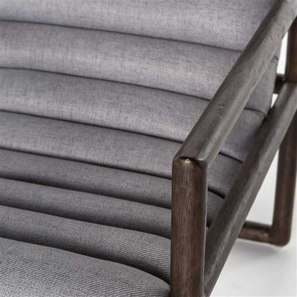 Dylan Channel Back Armchair  Gray