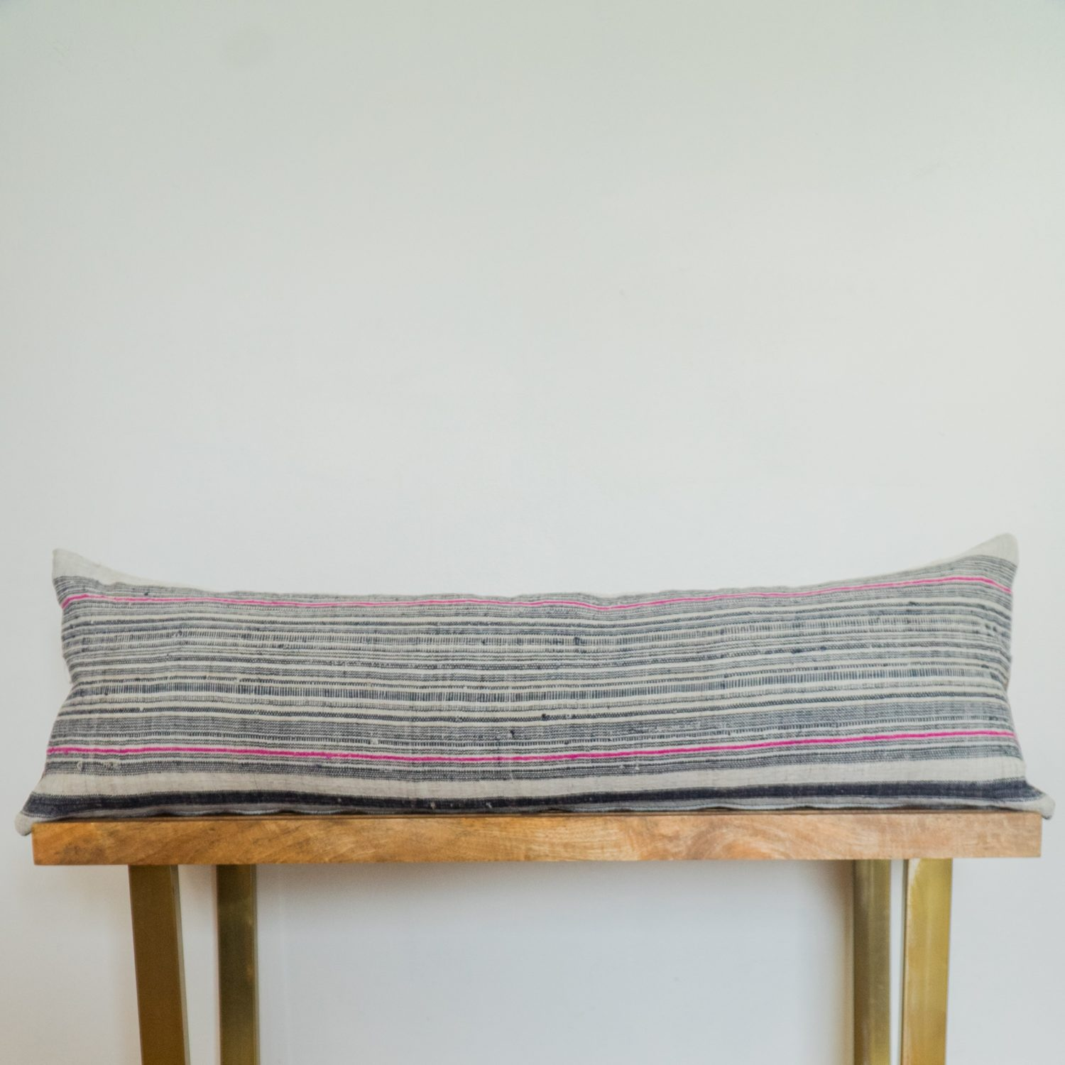 lumbar indigo pillow hand somalia block grande natural handmade print product petite cotton red chevron gray
