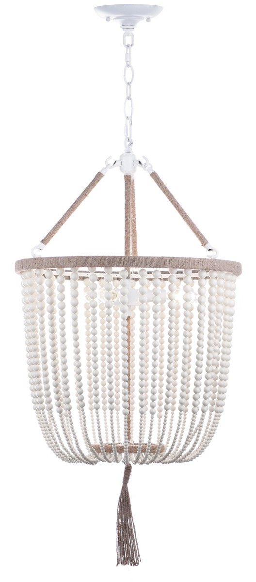 Ava Beaded Pendant Light Cream Eclectic Goods