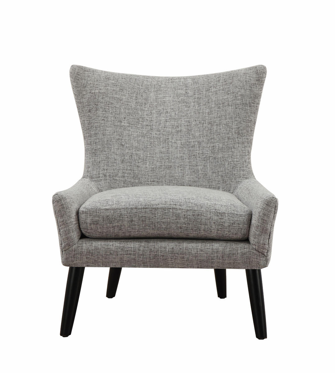 Mid Mod Accent Chair Gray Linen