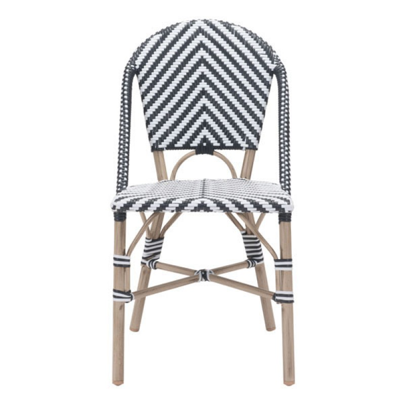 Black And White Chevron Bistro Chairs  Set Of 2