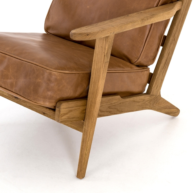 Elise Chair Cognac Leather Eclectic Goods Eclectic Goods