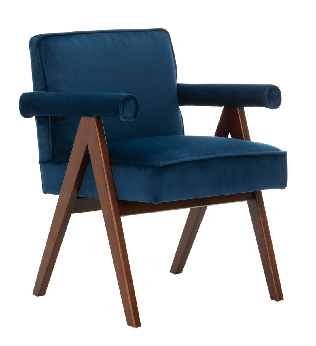 Picture of: Mid Century Modern Armchair Navy Eclectic Goods Eclectic Goods
